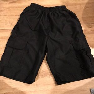 Boy's Black Cargo Shorts